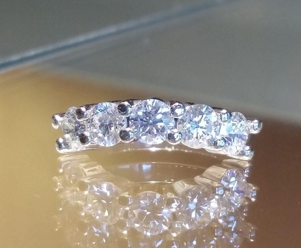 Custom Platinum Curved wedding band